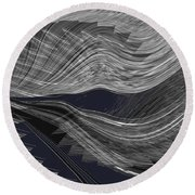 Wind Whipped Round Beach Towel