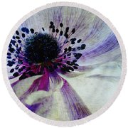 Windflower Round Beach Towel by AugenWerk Susann Serfezi
