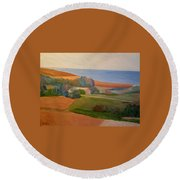Windham Farm Memories Round Beach Towel