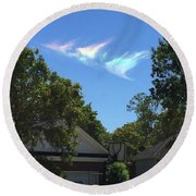 Window From Heaven Round Beach Towel