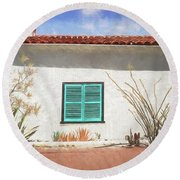 Window In Oracle Round Beach Towel