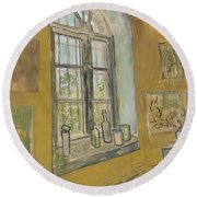 Window In The Studio Saint-remy-de-provence, September - October 1889 Vincent Van Gogh 1853 - 1890 Round Beach Towel