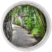 Window Into China Round Beach Towel