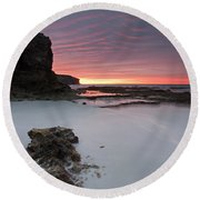 Window On Dawn Round Beach Towel by Mike  Dawson