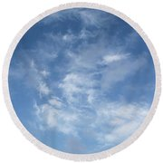 Round Beach Towel featuring the photograph Window On The Sky In Israel During The Winter by Yoel Koskas