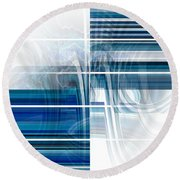 Window To Whirlpool Round Beach Towel by Thibault Toussaint
