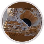 Round Beach Towel featuring the photograph Window  Zoom In Balboa Park San Diego by Jasna Gopic