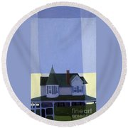 Windows Round Beach Towel by Donald Maier