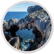Windows Lookout Round Beach Towel
