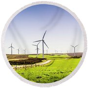 Winds From West Woolnorth Round Beach Towel