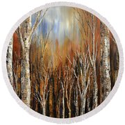 Winds Of Autumn Round Beach Towel