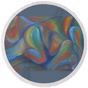 Winds Of Change Prevail Round Beach Towel