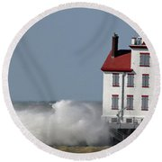 Winds Of March 1 Round Beach Towel