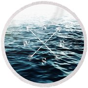 Winds Of The Sea Round Beach Towel