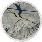 Winds Sand Scapes Round Beach Towel