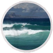 Windswept Ho'okipa Round Beach Towel