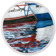 Windswept Reflections Sold Round Beach Towel by Lil Taylor