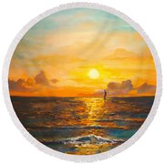 Windward Round Beach Towel