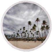 Windy Beach Round Beach Towel