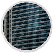 Windy City Perspective II Round Beach Towel by Michael Nowotny