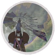 Ghosts From The Past Round Beach Towel