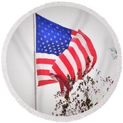 Long May It Wave Round Beach Towel