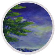 Windy Lake Superior Round Beach Towel