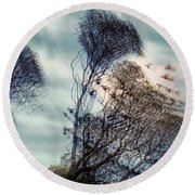 Round Beach Towel featuring the photograph Windy Weather by Vladimir Kholostykh