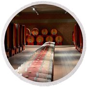 Wine Cellar In Montalcino Round Beach Towel