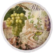 Wine Country Rhone Round Beach Towel