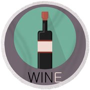 Wine Poster Print - Win And Wine Round Beach Towel