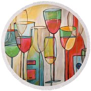 Wine Tasting Round Beach Towel