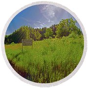 Wingate Prairie Round Beach Towel
