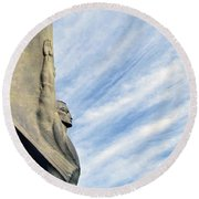 Winged Figure Of The Republic No. 1 Round Beach Towel