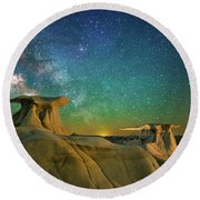 Winged Guardians Round Beach Towel