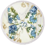 Winged Tapestry Iv Round Beach Towel