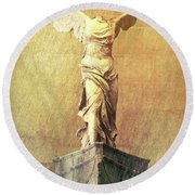 Winged Victory Of Samothrace - #3 Round Beach Towel