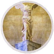 Winged Victory Of Samothrace - #4 Round Beach Towel