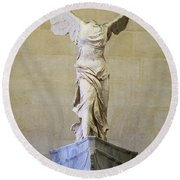 Winged Victory Of Samothrace Round Beach Towel