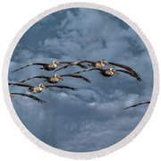 Wings In Formation Round Beach Towel