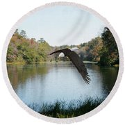 Wings Like Eagles Round Beach Towel