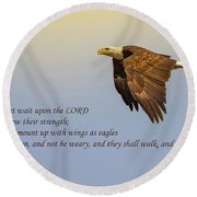 Wings Of Eagles Round Beach Towel