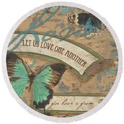 Wings Of Love Round Beach Towel