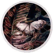 Wings Of The Night Round Beach Towel