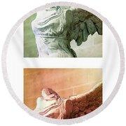 Wings Of Victory - #1 Round Beach Towel