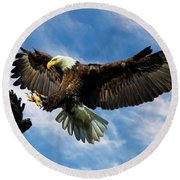 Wings Outstretched Round Beach Towel