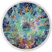 Round Beach Towel featuring the painting Winners And Losers by Fabrizio Cassetta