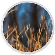 Round Beach Towel featuring the photograph Winter Afternoon Impressions  by Davorin Mance