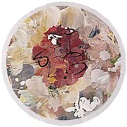 Winter Bouquet Round Beach Towel by Nancy Kane Chapman