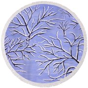 Winter Branches, Painting Round Beach Towel